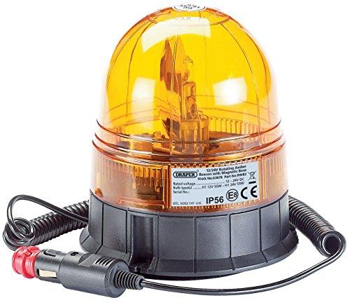 Draper 63878 12/24 V Base magnétique rotatif Beacon