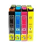 Kombipack 4 x Kompatible Tintenpatrone für Epson 16 / 16XL WF 2010W 2510WF 2520NF 2530Wf 2540WF
