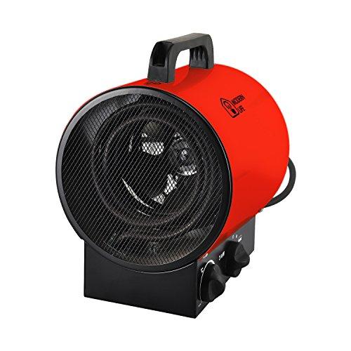 3 kw Radiateur Soufflant Chauffage Industriel Autoportant éTanche 3 Vitesses (30 W, 1500 W, 3000 W) Avec Le Thermostat Silencieux Rouge