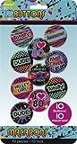 Enter-Deal-Berlin 10 Stück Party Buttons - 80er Jahre -