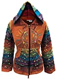 Search : Acid washed multicolor patchwork hoodie, rainbow striped sleeve hippy jacket,boho