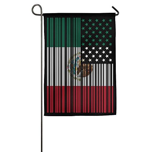 GJF8Cool Bar codiert USA Mexiko Flagge Bedruckt Home Garten Flaggen 30,5x 45,7cm 12*18inch Weiß