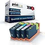 4x kompatible Tintenpatronen für Dell V 525 w V 725 w Dell 31 32 33 34 Black Cyan Magenta Yellow - Eco Plus Serie