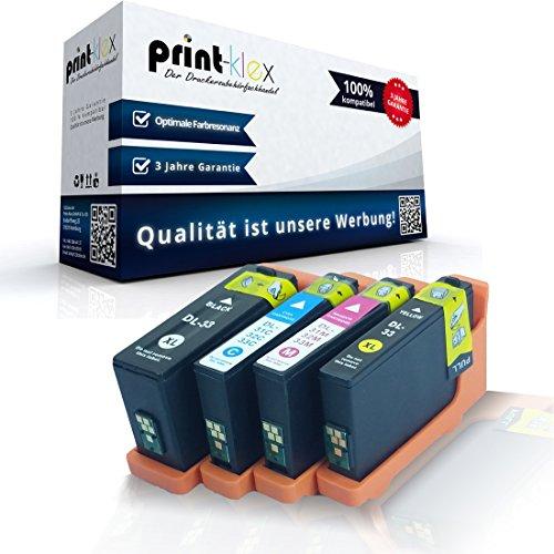 4x kompatible Tintenpatronen für Dell V525 w V725 w XL Dell 31-34 R4YG3 55K2V J56GD PT22F BK C M Y - Office Quantum Serie (Dell V525)