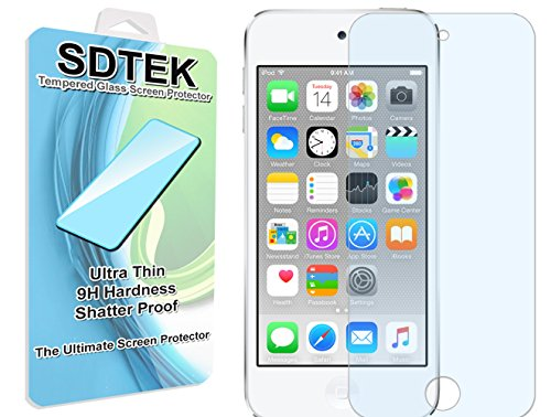 SDTEK Schutzglas für iPod Touch 6 6G 6th Generation Panzerglas Glasfolie Hartglas Panzerfolie Tempered Glass Screen Protector Schutzfolie Displayschutzglas iPod Touch 6 6G 6. Generation Ipod Touch Screen Protector