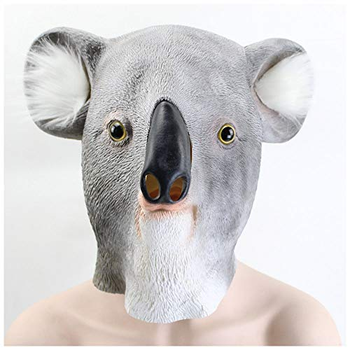 YaPin Neuheit Australien Koala Maske Maskerade Latex Maske Halloween Karneval Maske Tanz One Size Unisex