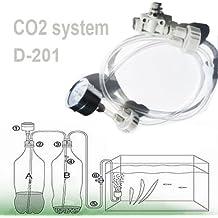 DIY CO2 Sistema , D201 Tubo con Tapón de Botella Válvula del Manómetro para la Planta de musgo acuario