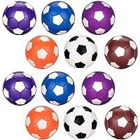 Tischfußball Ersatzbälle 12pcs, Oziral Mini 36mm Farbige Tischfußball Geeignet für Erwachsene und Kinder
