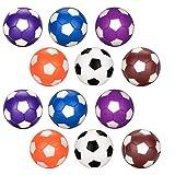 Oziral Palline Calcio Balilla 12pcs, Ricambio per biliardino Colorati da 36mm Gioco di Calcio per Adulti e Bambini (12 PCS)