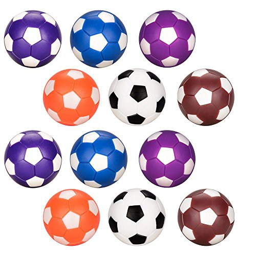 Oziral Table Football Replacement Balls 12pcs Spare for 36mm Colored Foosball Table Football Game for Adults and Children