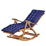TYXTYX Gartenstuhl-Auflage Kissen Faule Menschen Lounge Sessel Klapp sofakissen Dicke für hochwertig und pflegeleicht,für Schaukelstuhl, Liegestuhl(Größe: 155X48X8CM, ohne Stuhl),Blue