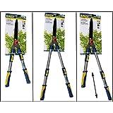 Kinzo Cisaille taille-haie pour arbres et haies Diamètre de coupe max. 8mm Poignées télescopiques, ne rouille pas