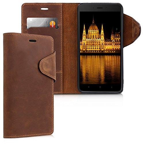 kalibri-Hlle-fr-Xiaomi-Redmi-Note-4Note-4X-Echtleder-Wallet-Case-Schutzhlle-mit-Fach-und-Stnder-in-Braun