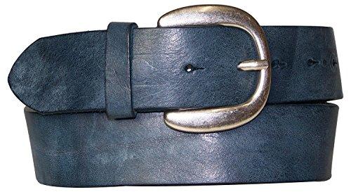 Fronhofer Ceinture intemporelle de 4 cm, mixte   Boucle de ceinture ronde  classique, argentée 26341107cbb
