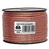 HB-Digital Lautsprecherkabel 2 x 1,5mm² x 100m CCA-Innenleiter PVC- Dielektrikum (transparent) Speaker Cable