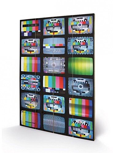 1art1 84050 Fernseh-Testbilder - Fernseh-Testbilder aus Aller Welt, Troy Litten Poster auf Holz 60 x 40 cm