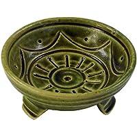 Guru-Shop Keramik Räucherstäbchen Schale, Grün, Farbe: Grün, 4x7,5x7,5 cm, Räucherstäbchenhalter preisvergleich bei billige-tabletten.eu