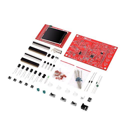 SHUOGOU DSO138 Osciloscopio Digital DIY Kit Open Source 2.4'' TFT 1Msps con sonda montada Visión para el Osciloscopio que Hace el Sistema Electrónico de la Herramienta de Diagnóstico
