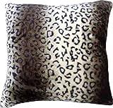 "Faux Fur Animal Print Cushion Cover Design LEOPARD Size 22"" x 22"""