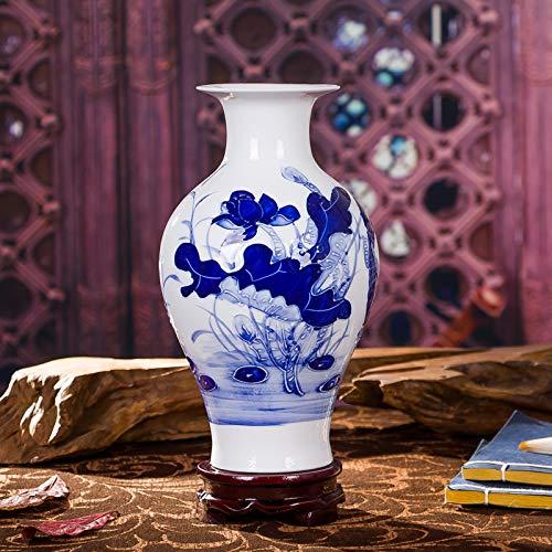 Keramik Antike Alte Qinghua Porzellan Vase Blumenschmuck Hause Schmuck Wohnzimmer Handwerk Mode Ornamente 14x24 cm F ()