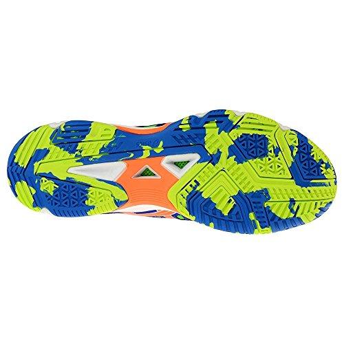 Asics Gel-Beyond 4 Blanc (Blue/Neon Orange/Neon Green)