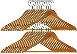 Premier Housewares 1900355 Wooden Clothes Hangers - Pack of 20