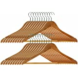 Premier Housewares 1900355 Wooden Clothes Hangers Pack of 20