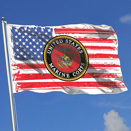 dfhsdh Flagge USMC Marine Corps Flags 3x5 Foot Banner 3X5 Ft Polyester Banner Flags -