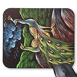 Gaming Mouse Pad Liebe Vögel Pfau Design für Desktop und Laptop 1 Packung 30x25 cm / 11.8x9.8in