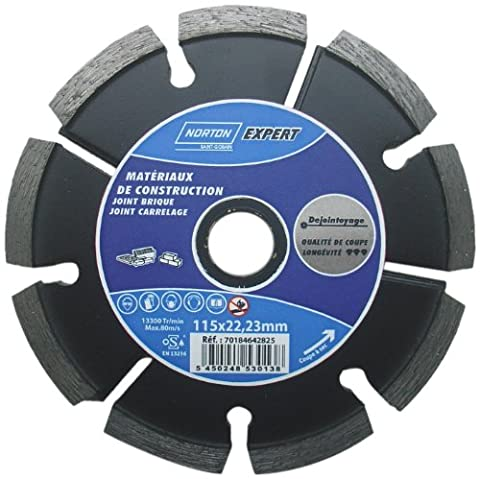 Norton Diamond Cutting Disc 115 x dejointoyage Seal 6 x 7 x 22 mm