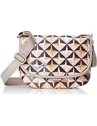 Oilily - Lori Geometrical Shoulderbag Shf, Shoppers y bolsos de hombro Mujer, Rosa (Rose), 8x19x26 cm (B x H T)