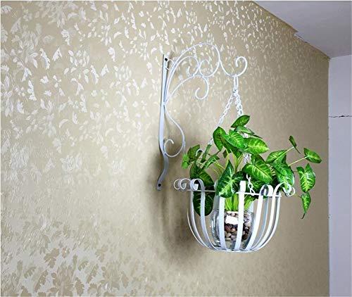 Exing Blumen-Stand, europäische Art-Eisen-Kunst-Wand-Berg-Blumen-Topf-Halter-Innenbalkon-Wand-angebrachtes Pflanzen-Gestell-Ausgangs-Anzeigen-Becken (Farbe : C) (- Wand-berg Europäischer)