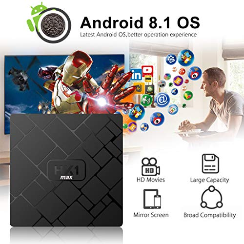 Android 8.1 TV Box,  Android Box 4 GB RAM 64 GB ROM,  Livebox HK1 MAX RK3328 Quad Core 64 bit Smart TV Box,  Wi- Fi- Dual 5G/2.4G,  BT 4.1,  Box TV UHD 4K TV,  USB 3.0