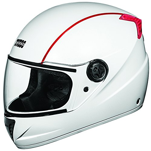 Studds Professional Full Face Helmet (White and Red , XL)