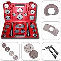 Todeco - Kit de Herramientas de Reparación de Frenos, Juego de Herramientas de Pinzas de Freno, Material: Acero C45, con estuche roja, Tamaño de la caja: 31 x 21.5 x 6 cm