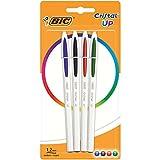 Bic Penna Cristal Bicolor, Colori Standard, Blister con 4 Pezzi