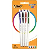 BIC Cristal Up bolígrafos punta media (1,2 mm) - colores Surtidos, Blíster de 4 unidades