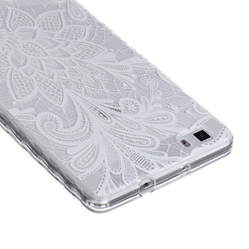 iPhone 3S, Iphone 6 cas, nsstar anti-rayures Ultra Fine cristal transparent en gel Housse étui coque souple en TPU Bumper en silicone transparent avec protection antichoc pour Apple iPhone 6/6S 11,9 c White Lace Flower
