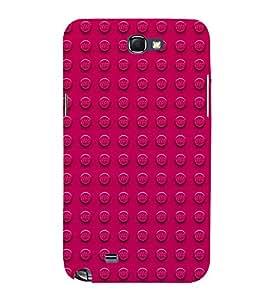 FUSON Pink Dots Background 3D Hard Polycarbonate Designer Back Case Cover for Samsung Galaxy Note 2 :: Samsung Galaxy Note Ii N7100