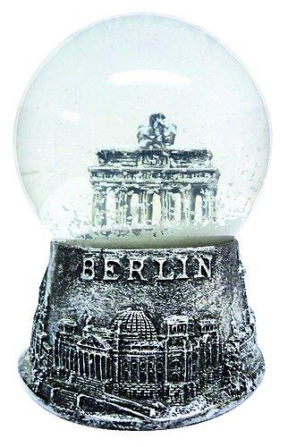 Dresden-Onlineshop Schneekugel Berlin Brandenburger Tor Silber 4,5 cm