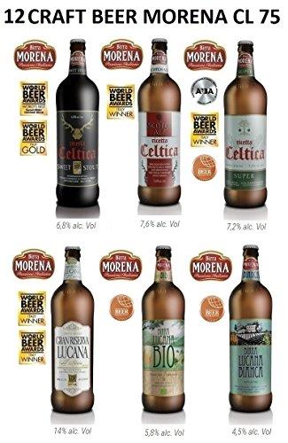 12 x Birra Morena - Craft Beer Miste Celtiche e Lucane - Stout - Scotch Ale - Super - Gran Riserva Lucana - Lucana Bio - Lucana Bianca (12)
