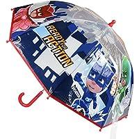 PJ Masks, 2400000363, ombrello a cupola con personaggi dei fumetti Super Pigiamini - PJ Masks, 45cm (d)
