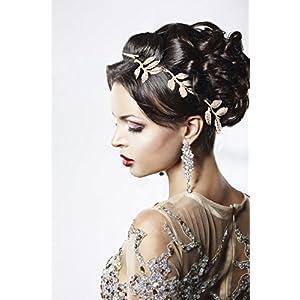 Elastisches Haarband Haarschmuck Haarkette Stirnband Stirnschmuck Haar Kopfschmuck in Gold