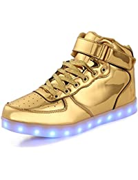 FLARUT Kids LED Light up Shoes 7 Colors Flashing Trainers High-top Charging  Sneakers with for Boys and… bf7b1edea