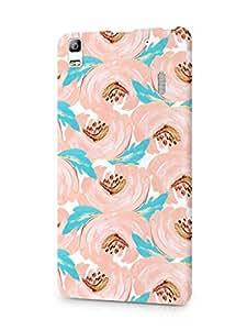 Cover Affair Floral/Flowers Printed Designer Slim Light Weight Back Cover Case for Lenovo Vibe K3 Note/Lenovo K3 Note (Pink & Orange & Gold)