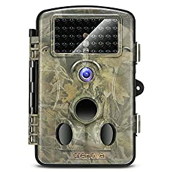 Crenova 2019 Upgraded Crenova Trail Camera 12MP 1080P HD Wildlife Camera with 120° Wide Angle 65ft Detection Range 42 Pcs 940nm Updated IR LEDs Night Version for Wildlife Monitoring & Home Security&Hunting