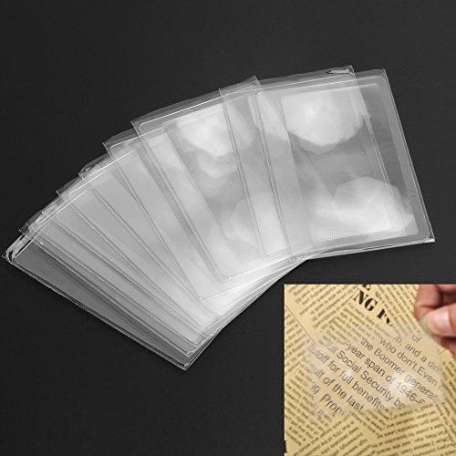 Demiawaking 10 Stück Kreditkarte 3 X Lupe Vergrößerung Vergrößerungs Fresnel Linse