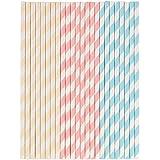 Tala Pastel Paper Straws - [Pack de 6]