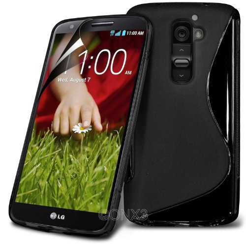 onx3-lg-g2-d802-black-s-line-wave-gel-case-skin-cover-lcd-screen-protector-guard-micro-polishing-cle