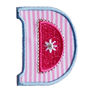 D Pink Blue ABC letter 9cm big for names crafts jeans clothing fabric to iron on jacket neckerchief ceiling flag pants plate backpack trousers cushion scarf bunting bag hat door hat skirt dresses cap to personalise gifts for applique personalise arts sewing decorating wall personalise idea idea iron on patches creative craft sew on birth decorating toddler motifs sewing gift room children idea clothes kids birthday hobby fabric child letters diy nursery christening arts personally boy em